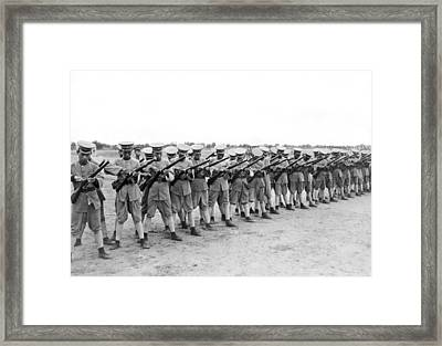 General Wu Pei-fu Troops Framed Print by Underwood Archives