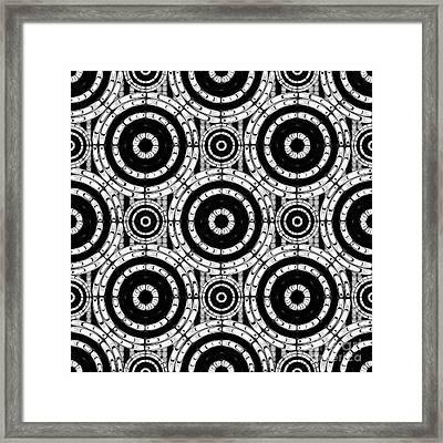 Geometric Black And White Framed Print