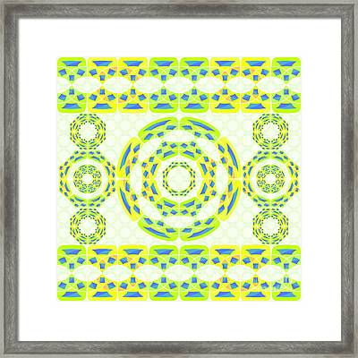 Geometric Composition Framed Print