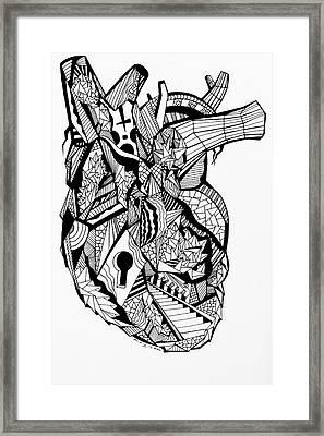 Geometric Heart Framed Print by Kenal Louis