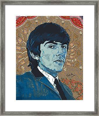 George Harrison Framed Print by Suzanne Gee