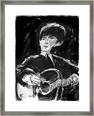 George Framed Print by Russell Pierce