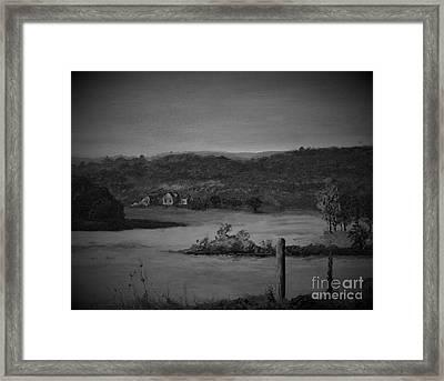 Georgia Farm House Vignette Framed Print by Rich Donadio