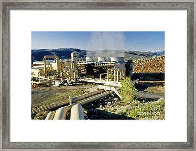 Geothermal Power Plant Framed Print