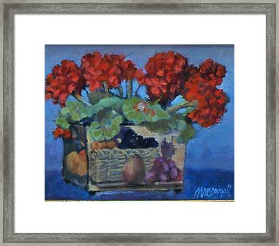 Geraniums Framed Print by Michael McDougall