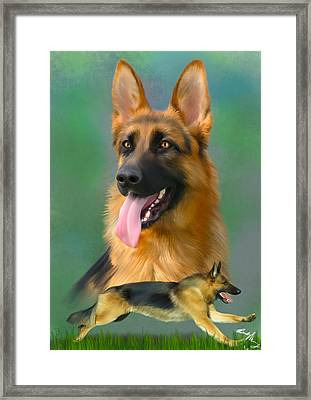 German Shepherd Breed Art Framed Print