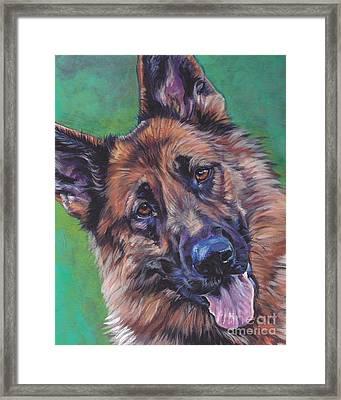German Shepherd Framed Print by Lee Ann Shepard