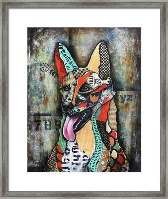 German Shepherd Framed Print by Patricia Lintner