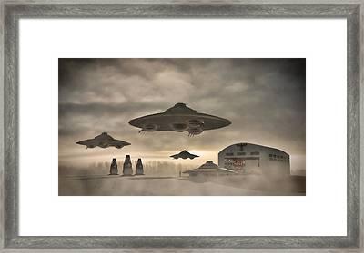 German Wwii Ufo By Raphael Terra Framed Print