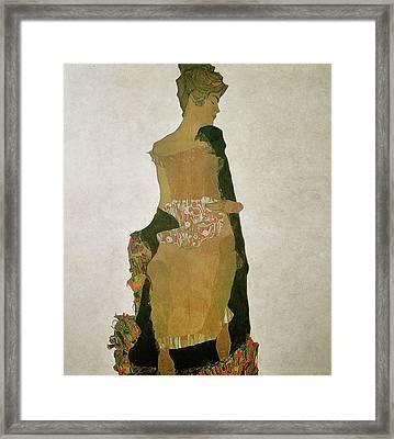 Gerti Schiele Framed Print by Egon Schiele