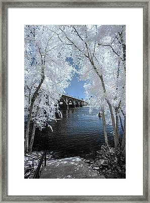 Gervais St. Bridge In Surreal Light Framed Print