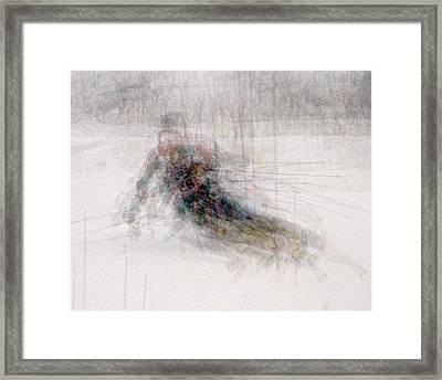 Giant Slalom Framed Print by Denis Bouchard