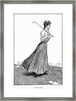 Gibson Girl, 1899 Framed Print by Granger