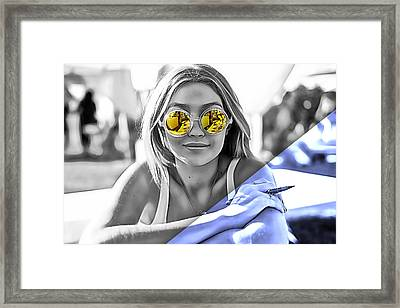 Gigi Hadid Collection Framed Print