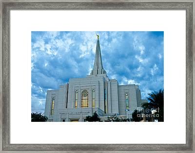Gilbert Arizona Lds Temple Framed Print by Nick Boren