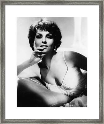 Gina Lollobrigida, Ca. Early 1960s Framed Print