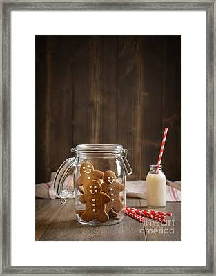 Gingerbread Jar Framed Print by Amanda Elwell