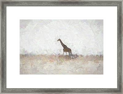 Giraffe Abstract Framed Print by Ernie Echols