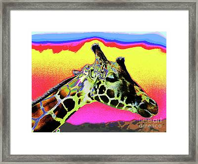 Giraffe Fun Framed Print