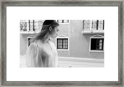 Girl In Profile Framed Print