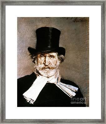 Giuseppe Verdi (1813-1901) Framed Print