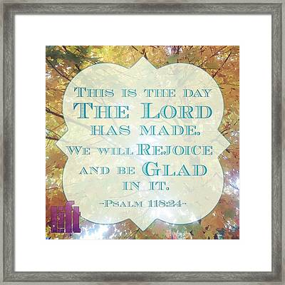 Give Thanks To The Lord, For He Is Framed Print
