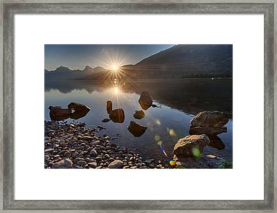 Framed Print featuring the photograph Glacier National Park 100th Anniversery by Kevin Blackburn