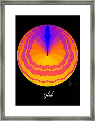 Glad Framed Print