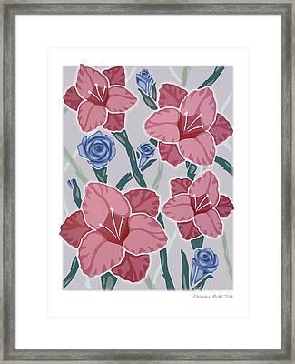 Gladiolus Framed Print by David Azzarello