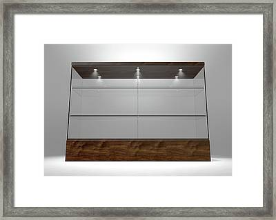 Glass Display Cabinet Framed Print by Allan Swart
