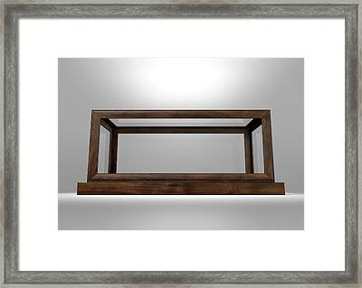 Glass Display Case Frame Horizontal Framed Print by Allan Swart