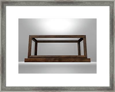 Glass Display Case Frame Horizontal Framed Print by Allan Swart