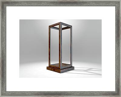 Glass Display Case Verticle Framed Print