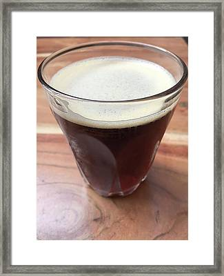 Glass Of Iced Coffeee Framed Print by Tom Gowanlock