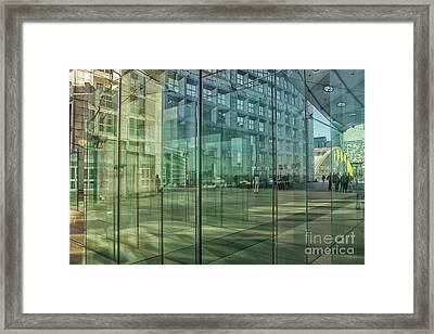 Framed Print featuring the photograph Glass Panels At Le Grande Arche by Patricia Hofmeester