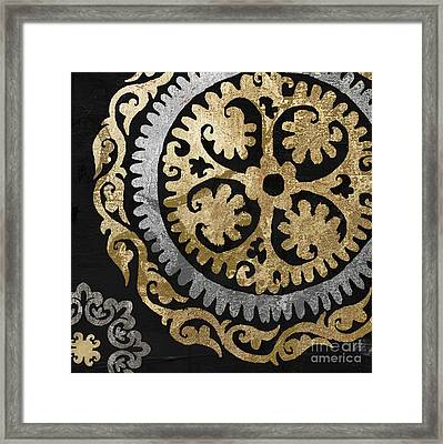 Glitterfish Iv Framed Print by Mindy Sommers