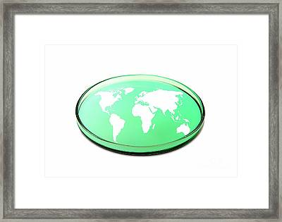 Global Research, Conceptual Image Framed Print by Victor de Schwanberg