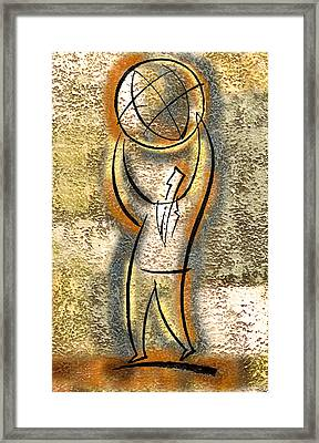 Framed Print featuring the painting Globalization  by Leon Zernitsky