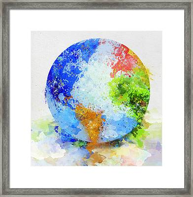 Globe Painting Framed Print
