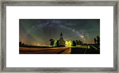 Framed Print featuring the photograph Glorious Night by Aaron J Groen