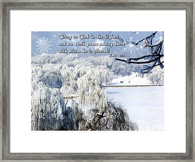 Glory To God Framed Print by Judi Saunders