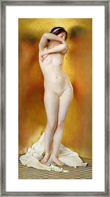 Glow Of Gold Gleam Of Pearl Framed Print