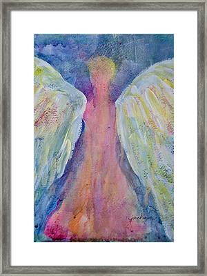 Glowing Angel Framed Print by Jeanne MCBRAYER
