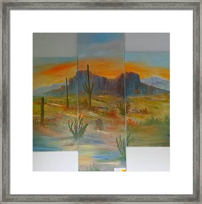 Glowing Desert #1 Framed Print by Bryan Benson
