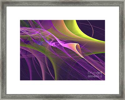 Go With The Flow Framed Print by Addie Hocynec