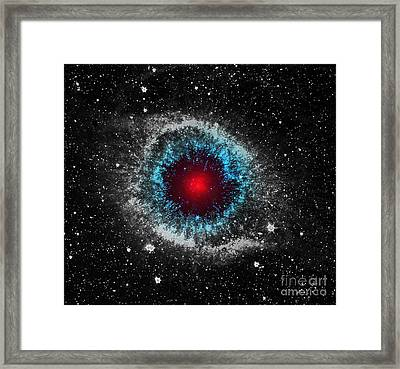 God's Eye Framed Print by Patricia Januszkiewicz