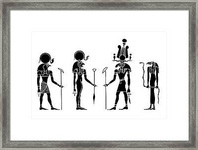 Gods Of Ancient Egypt Framed Print by Michal Boubin