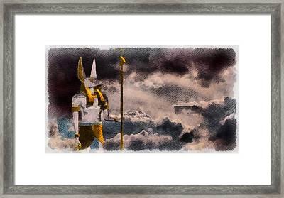 Gods Of Egypt - Anubis Framed Print by Raphael Terra