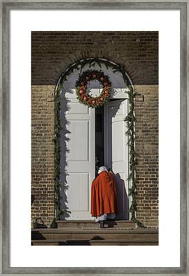 Going To Court Framed Print