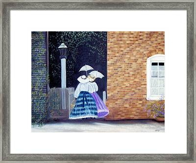 Framed Print featuring the pastel Going To Tea by Jan Amiss